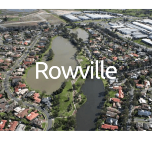 Rowville Roofing, rowville from above